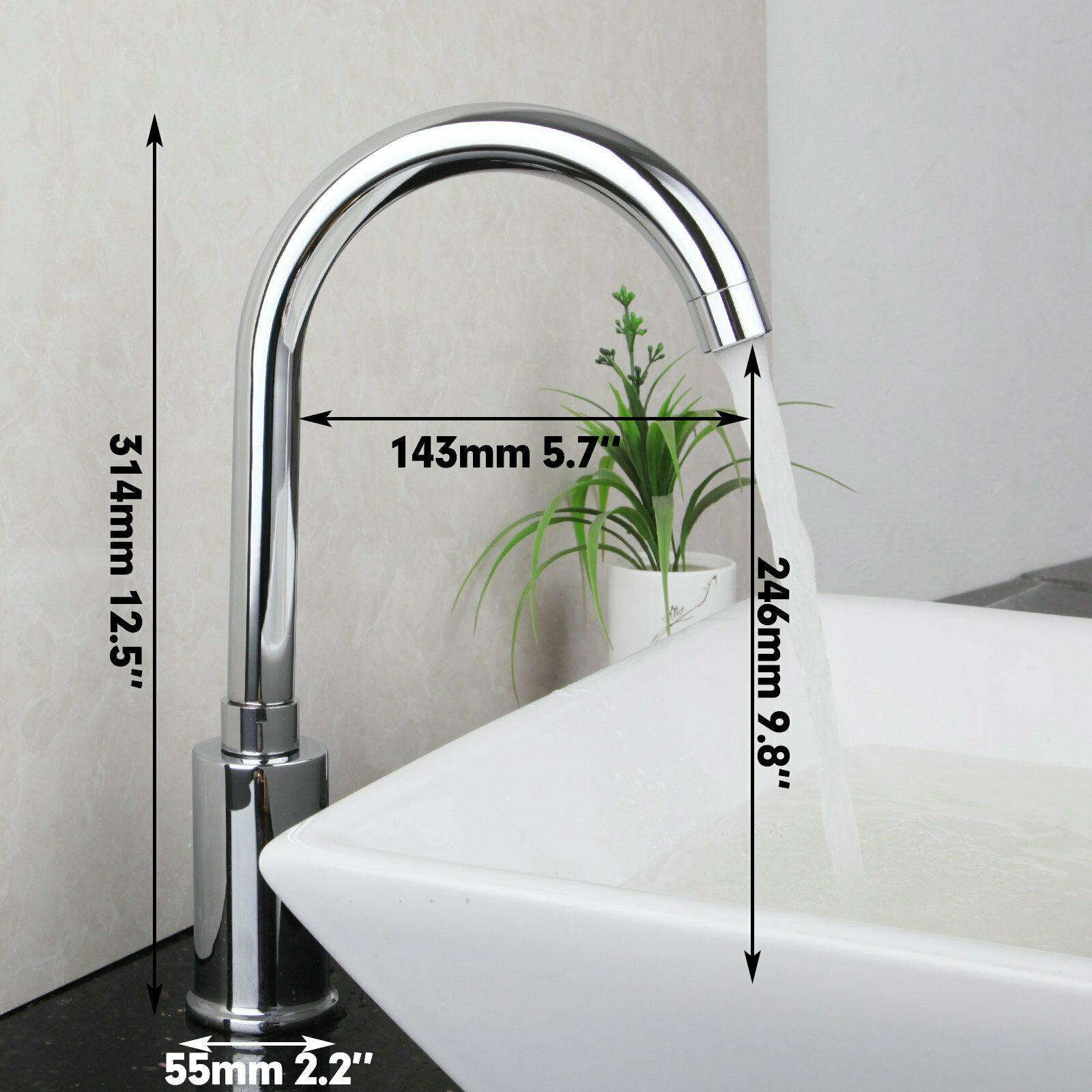 Hands Free Automatic Sensor Bathroom Basin Mixer Brass Faucet Hot ...