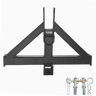 3 Point 2 Receiver Trailer Hitch Tractor Drawbar Category1 Black Steel