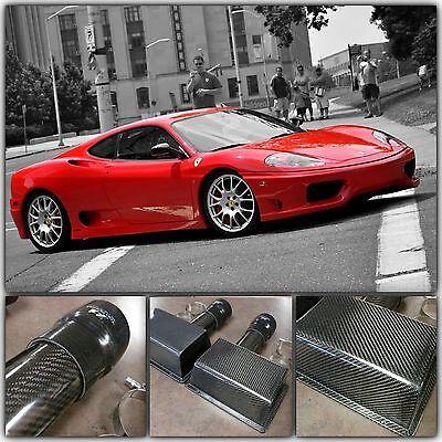 Ferrari 360 F360 Modena Coupe Spider 99-04 Carbon Fiber Air Intake Boxes