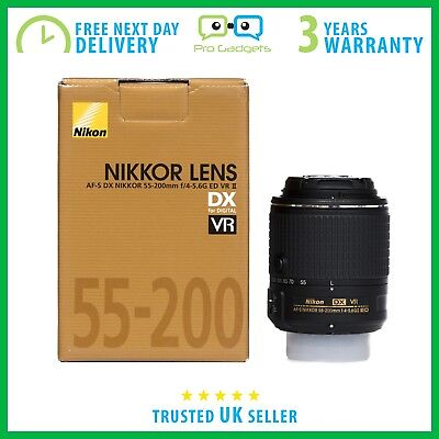New Nikon AF-S Nikkor 55-200mm F/4-5.6 DX ED VR II Retail Box - 3 Year Warranty