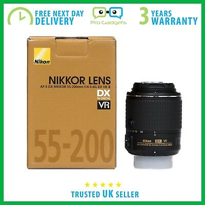 Nikon AF-S Nikkor 55-200mm F/4-5.6 DX ED VR II Retail Box - 3 Year Warranty