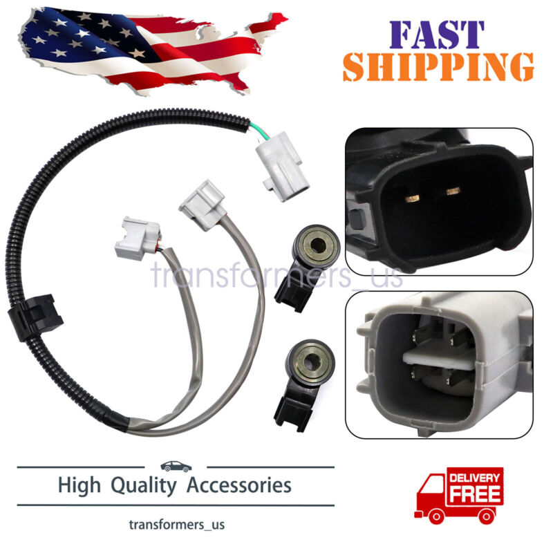 2 x KNOCK SENSOR with Harness For TOYOTA 3.3L CAMRY HIGHLANDER SIENNA ES330