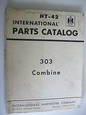 Ih International Harvester 303 Combine Parts Catalog