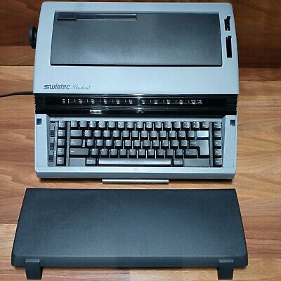 Swintec Model Student Electronic Electric Typewriter With Key Cover Free Shippin
