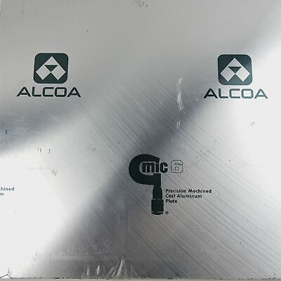 .25 Thick 14 Cast Aluminum Mic-6 Alcoa Plate 12 X 19 Qty 2 Sku180627