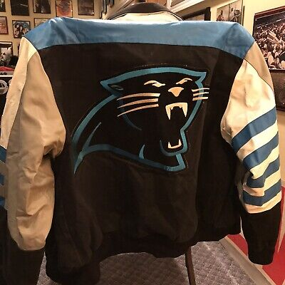 Carolina Panthers Jacket - Vintage Leather/Suede/Cloth XL Jacket  Carolina Panthers Leather