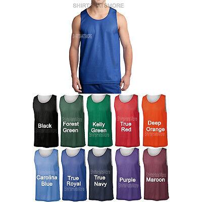 Mens Mesh Reversible Jersey Basketball Team Tank Top Shirt Tee XS-2X 3X 4X NEW