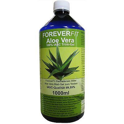 ForeverFit Aloe Vera Trinkgel 1x 1000ml Barbadensis Miller Blattgel #30240