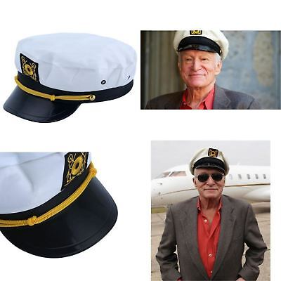 Replica Hugh Hefner Captain Hat Adult Playboy Yacht Costume Accessory 1 Size New