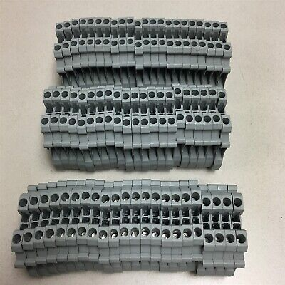 New Lot Of 64 Phoenix Contact Typ Ut 25 Gray Terminal Blocks 2.5 S10