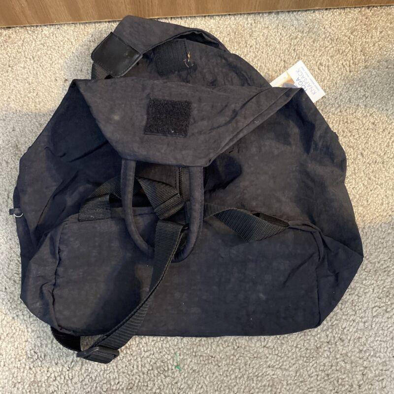 NWT Gaiam Yoga Knapsack Single Strap Backpack Tote Bag  Black