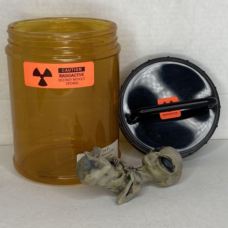 Alien Embryo in Specimen Jar Area 51 Horror Halloween Prop ET UFO X-Files