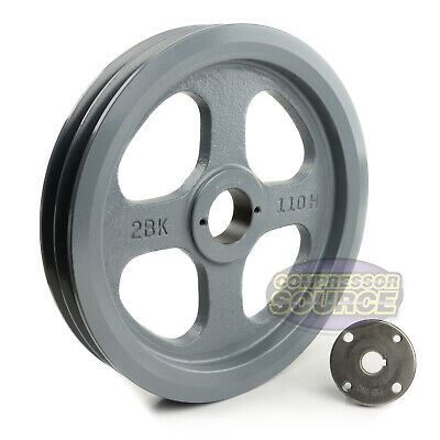 Cast Iron 10.75 2 Groove Dual Belt B Section 5l Pulley With 58 Sheave Bushing