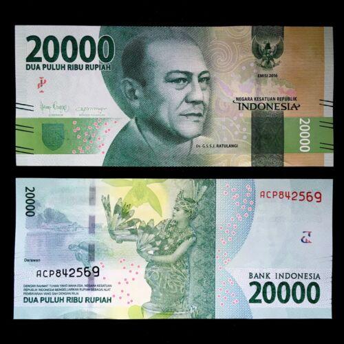 2016/2019 INDONESIA 20,000 20000 RUPIAH P-158 UNC> > > > >DR. G.S.S.J RATULANGI