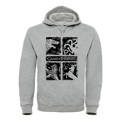 GAME OF THRONES Hoodie Kapuzen Sweatshirt Stark Targaryen - Game Of Thrones Targaryen Hoodie
