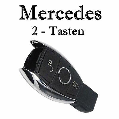 1x Autoschlüssel Chrom Gehäuse für Mercedes 2-Tasten Infra Fernbedienung KS18K