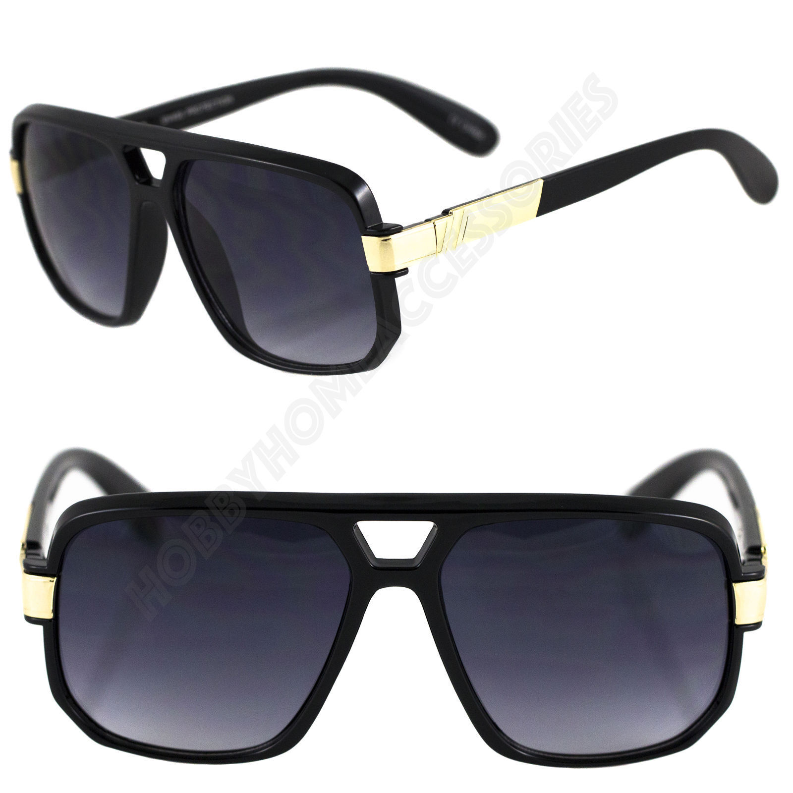 2 Pairs Black Gold