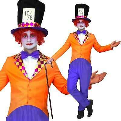 Mad Hatter Mens Fancy Dress Fairy Tale Wonderland Book Tea Party Adults - Mad Hatter Party Kostüm