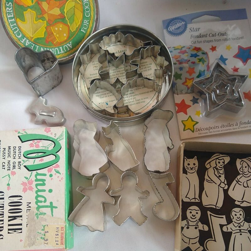Miniature Cookie Cutters, good for fondant, appetizers, cookies, art.