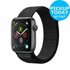 Apple Watch S4 GPS 44mm 16GB Smart Watch - Space Grey Aluminum / Black Loop.