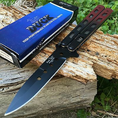 HUGE 2 TONE Mock Butterfly Assisted Open Stiletto Tactical Pocket Knife DK445-60