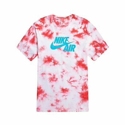 *NEW* Nike Air Men's Tie Dye T-Shirt red white and blue BQ0079 100 Size