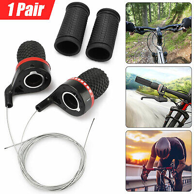 1 Pair Fit Mountain Bike Bicycle Speed Shifters Derailleur Twist Grip Gear Shift