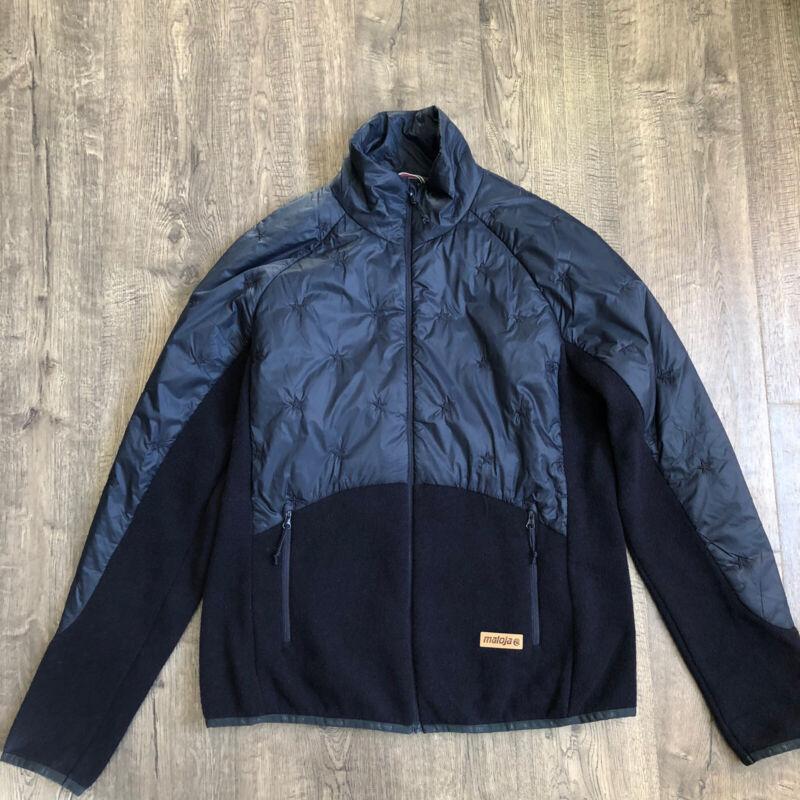 MALOJA Womens Large WallomaM. Jacket Navy Blue Nylon Wool Primaloft $265
