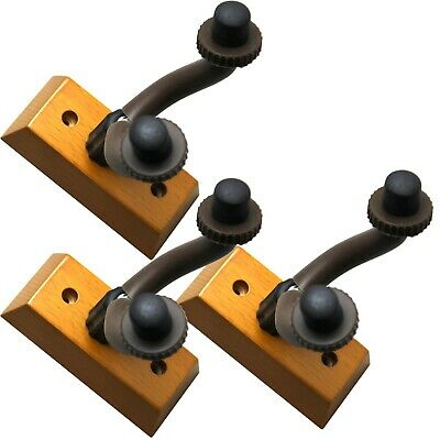 Guitar Wall Mount Hanger Stand Holder Hooks Display Acoustic Electric LOT of 3