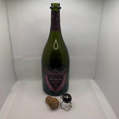 Dom Perignon Rose Champagne 2005 EMPTY Bottle W/ Cork and Cage