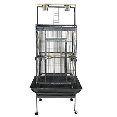 """68"""" Large Bird Parrot Cockatiel Cage  House w/Stand 5 Cups Good for Keeping Bird"""
