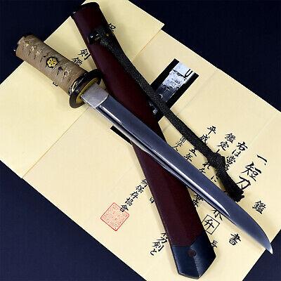 Authentic JAPANESE KATANA SWORD TANTO KANEMASU 兼升 signed w/NBTHK HOZON PAPER NR!