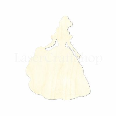 Disney Princess Bella, Wooden Cutout Shape, Tags Ornaments Laser Cut #1535 - Disney Princess Bella