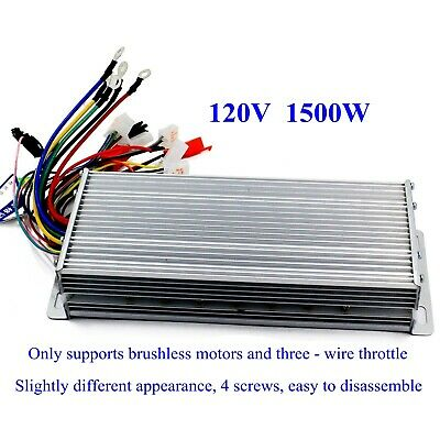 120v 1500w Electric Bicycle E-bike Scooter Brushless Dc Motor Speed Controller