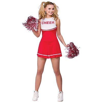 heerleader Halloween Fancy Dress Party Costume Outfit New (Halloween Cheerleader)