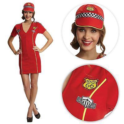Damen Miss Racer Rennen Sport Fahrer Kostüm Kleid Outfit Pitstop MODELL