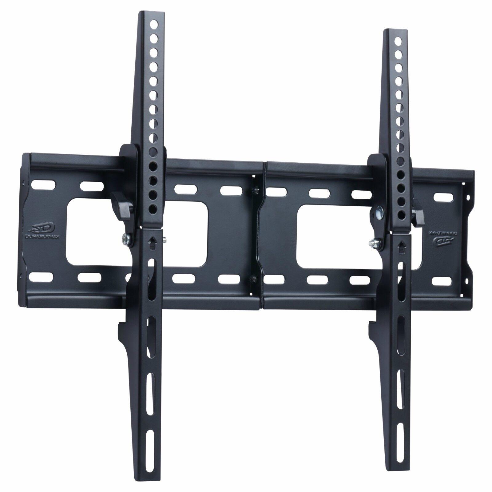 TV Wall Mount Bracket Flat 15° Tilt Swivel For 32 40 42 46 50 52 55 60 65 Inch
