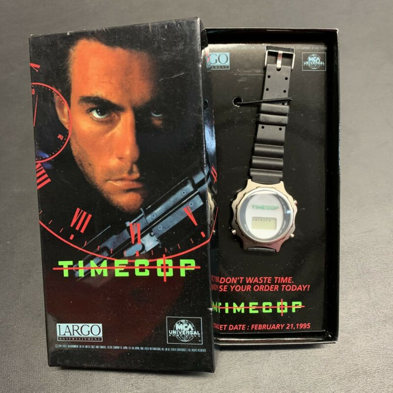 Vintage TIMECOP Movie Watch New Promo Item Rare 1994 Van Damme Film