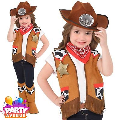 Kids Boys Girls Wild West Sheriff Cowboy Fancy Dress Book Day & Toys 4-6 Years (Cowboy Costumes For Girls)