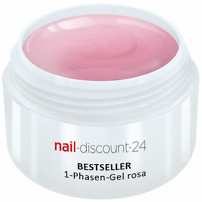UVGel 1PhasenGel rosa 5ml 3in1 Allround Versiegler Aufbau Grundierung Haft