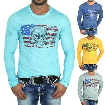 RUSTY NEAL DENIM HOODIE SWEATSHIRT LONGSHIRT LONGSLEEVE 4 FARBEN 5330   Denim Long Sleeve Sweatshirt