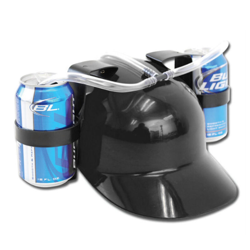 Novelty Drinking Beer Helmet Hat Can Straw Drink Holder Soda Hen Party Stag Do