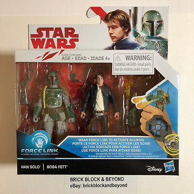 Hasbro Star Wars The Last Jedi Force Link Han Solo & Boba Fett figure 2 Pack MIB