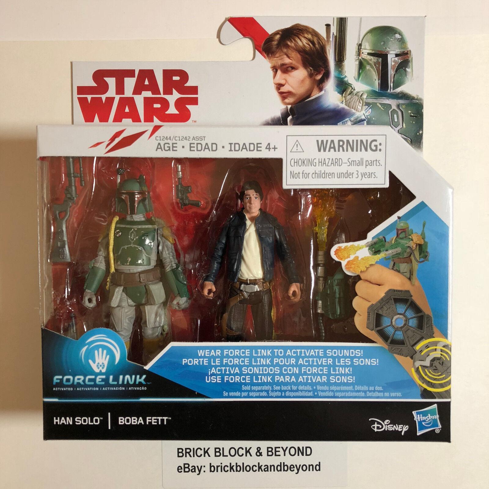 Hasbro Star Wars The Last Jedi Force Link Han Solo & Boba Fett figure 2 Pack MIB
