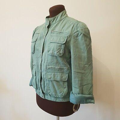 GAP Vintage Avocado - Green Long Sleeve Bomber Jacket - SIZE M - Pockets
