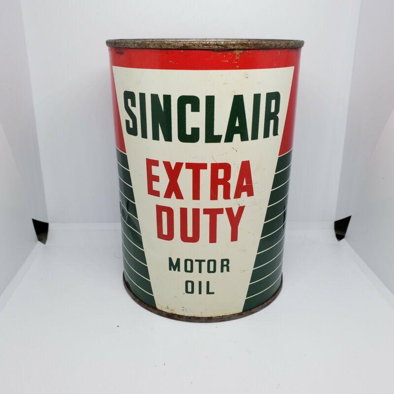 Vintage Sinclair Extra Duty 1 Quart Motor Oil Can copyright 1938 RARE