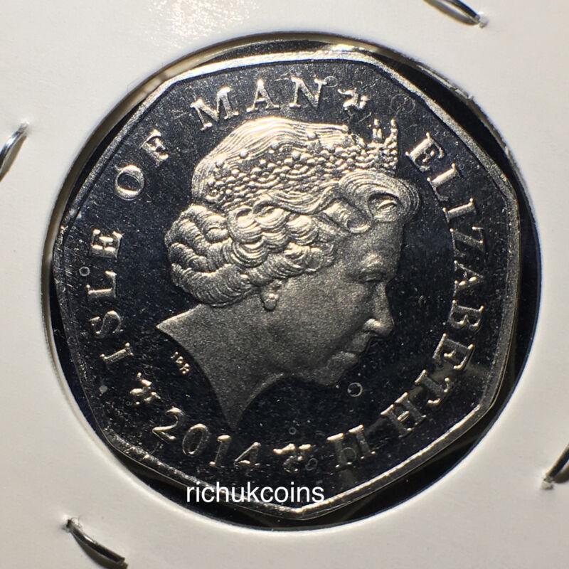 2014 IOM Xmas Diamond Finish 50p Coin