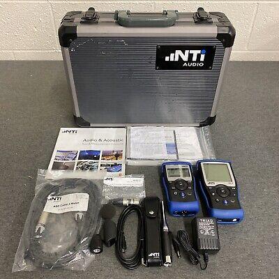 Nti Audio Xl-2 Acoustic Analyzer With Ma4220 Microphone Minirator Mr-pro Case