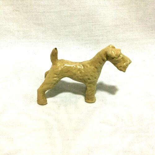 VINTAGE COLLECTIBLE METAL DOG FOX TERRIER - STANDING