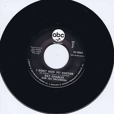 RAY CHARLES - I DON'T NEED NO DOCTOR (Legendary NORTHERN SOUL Classic) REPRO